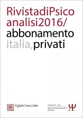 Abbonamento Rivista di psicoanalisi 2016 - Privati Italia