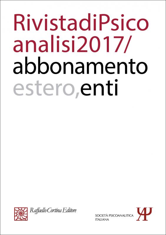 Abbonamento Rivista di psicoanalisi 2017 -  Enti Estero