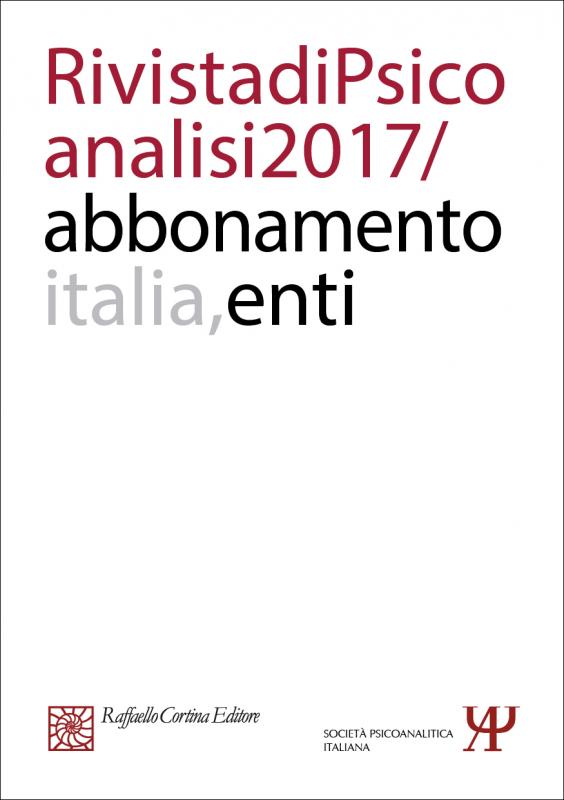 Abbonamento Rivista di psicoanalisi 2017 -  Enti Italia