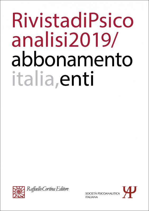 Abbonamento Rivista di psicoanalisi 2019 - Enti Italia
