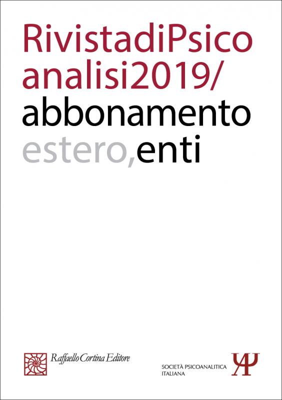 Annual subscription Rivista di psicoanalisi 2019 - Institutional, Rest of the World