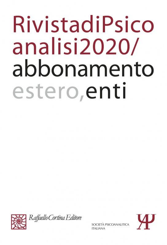 Annual subscription Rivista di psicoanalisi 2020 - Institutional, Rest of the World