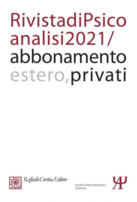 Annual subscription Rivista di psicoanalisi 2021 Individuals, Rest of the World