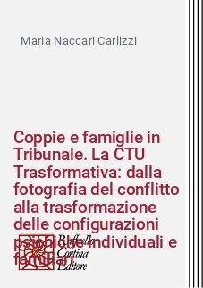 Coppie e famiglie in Tribunale. La CTU Trasformativa: dalla fotografia del conflitto alla trasformazione delle configurazioni psichiche individuali e familiari
