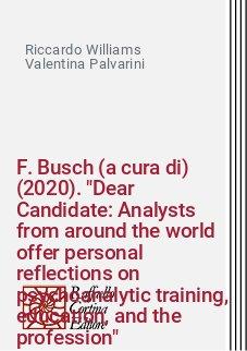 F. Busch (a cura di) (2020).