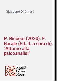 P. Ricoeur (2020). F. Barale (Ed. it. a cura di).