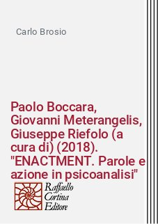 Paolo Boccara, Giovanni Meterangelis, Giuseppe Riefolo (a cura di) (2018).