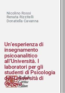 Un'esperienza di insegnamento psicoanalitico all'Università. I laboratori per gli studenti di Psicologia dell'Università di Genova