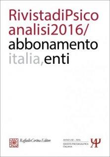 Abbonamento Rivista di psicoanalisi 2016 -  Enti Italia