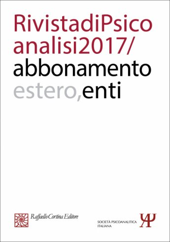 Annual subscription Rivista di psicoanalisi 2017 - Institutional, Rest of the World