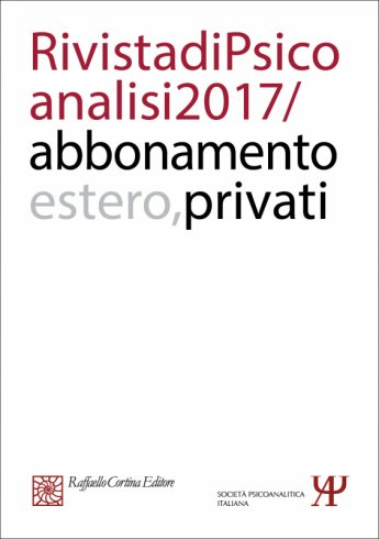 Annual subscription Rivista di psicoanalisi 2017 - Individuals, Rest of the World