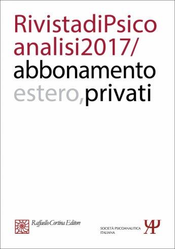 Annual subscription Rivista di psicoanalisi 2017 - Individuals, Rest of the World