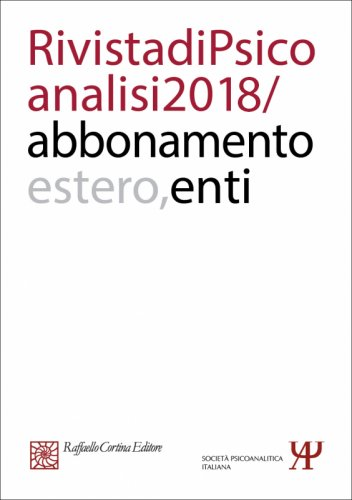 Annual subscription Rivista di psicoanalisi 2018 - Institutional, Rest of the World