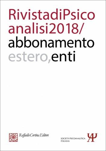 Annual subscription Rivista di psicoanalisi 2018 - Institutional, Rest of the World