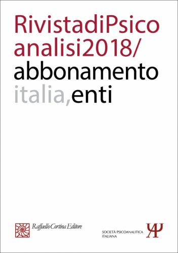 Abbonamento Rivista di psicoanalisi 2018 -  Enti Italia