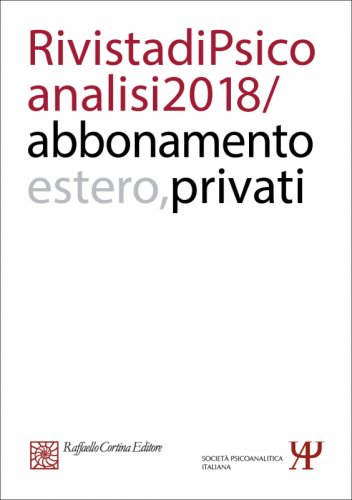 Annual subscription Rivista di psicoanalisi 2018 -