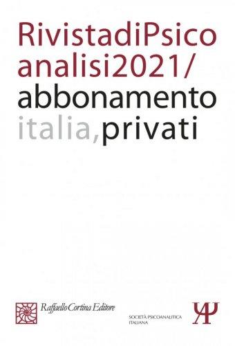 Abbonamento Rivista di psicoanalisi 2021 - Privati Italia