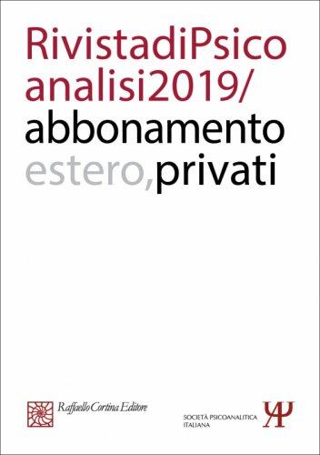 Annual subscription Rivista di psicoanalisi 2019 Individuals, Rest of the World