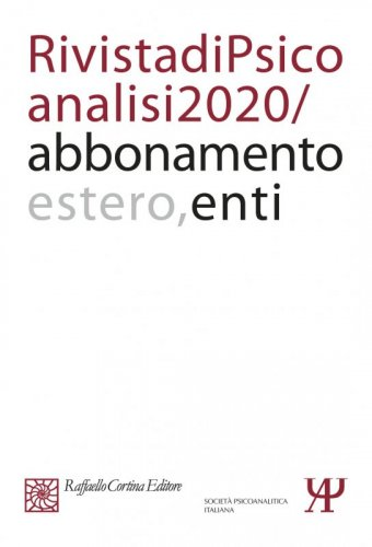 Annual subscription Rivista di psicoanalisi 2020 - Institutional, Rest of the World
