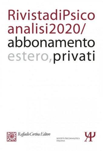 Annual subscription Rivista di psicoanalisi 2020 Individuals, Rest of the World