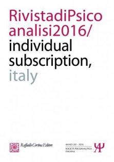 Rivista di psicoanalisi 2016 - Individual subscription - Italy