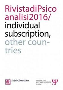 Rivista di psicoanalisi 2016 - Individual subscription - Other countries