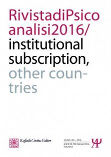 Rivista di psicoanalisi 2016 - 